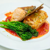 Runner Up - Norman Regional Health System Sous Vide Poached Trout Mousseline with Red Pepper-Prickly Pear Coulis
