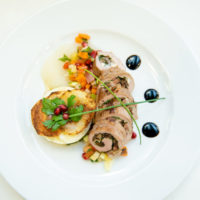 Silver Medal Winner - Cuyuna Regional Medical Center & Heartwood Senior Living Duck Breast Roulade filled with Figs, Chevre and Shiitake Mushrooms